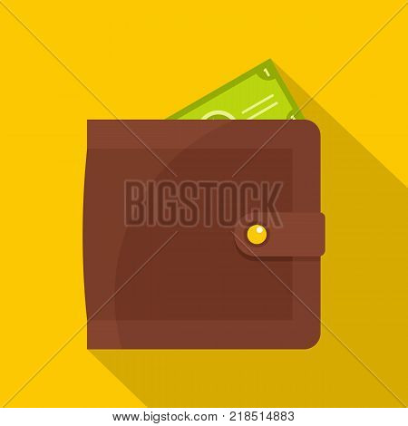 Purse pay icon. Flat illustration of purse pay vector icon for web