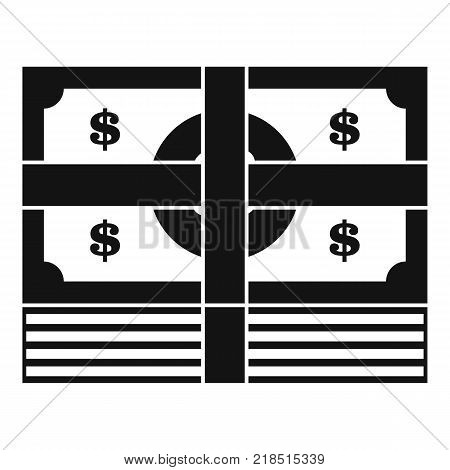 Bundle banknote icon. Simple illustration of bundle banknote vector icon for web