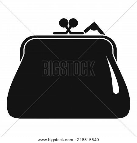 Purse retro icon. Simple illustration of purse retro vector icon for web