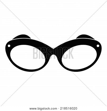 Retro spectacles icon. Simple illustration of retro spectacles vector icon for web