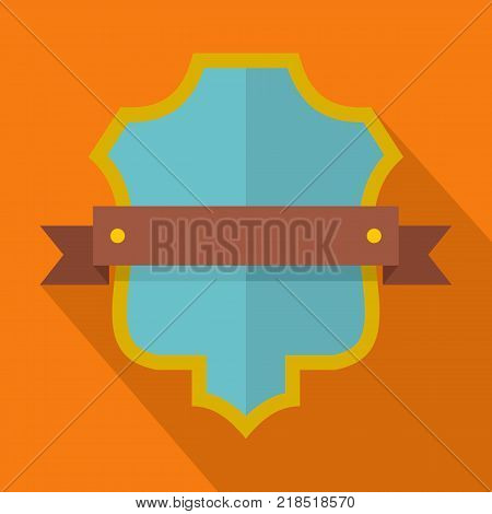 Badge guardian icon. Flat illustration of badge guardian vector icon for web