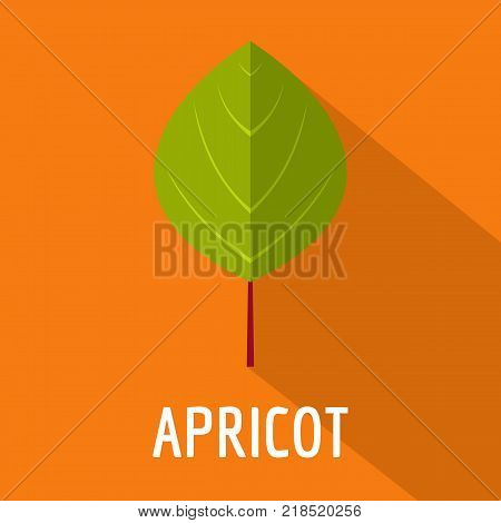 Apricot leaf icon. Flat illustration of apricot leaf vector icon for web