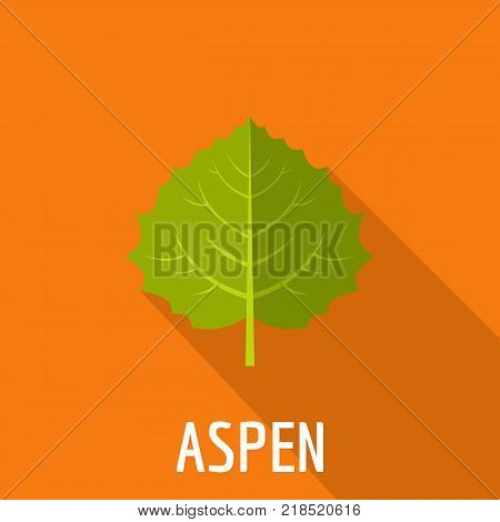 Aspen leaf icon. Flat illustration of aspen leaf vector icon for web