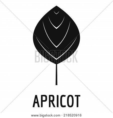 Apricot leaf icon. Simple illustration of apricot leaf vector icon for web