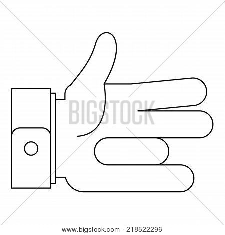 One finger icon. Outline illustration of one finger vector icon for web
