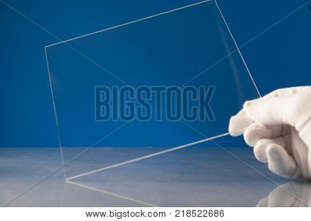 Bulletproof glass in the laboratory of optics. Checking the optical properties of tempered glass