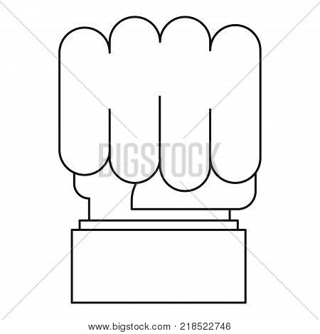 Big fist icon. Outline illustration of big fist vector icon for web