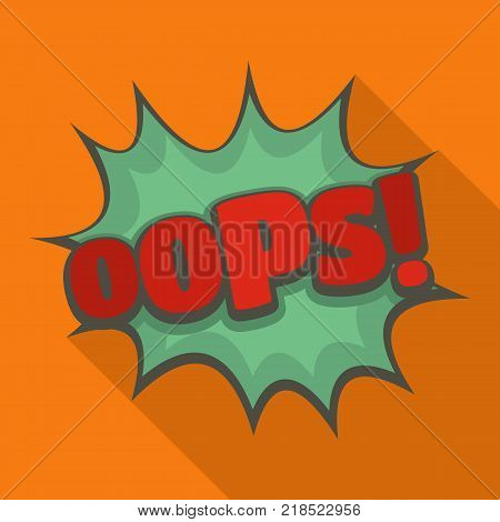 Comic boom oops icon. Flat illustration of comic boom oops vector icon for web