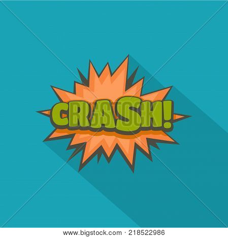 Comic boom crash icon. Flat illustration of comic boom crash vector icon for web
