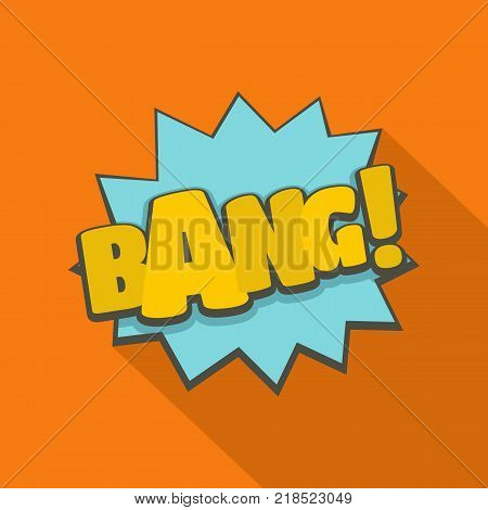 Comic boom bang icon. Flat illustration of comic boom bang vector icon for web
