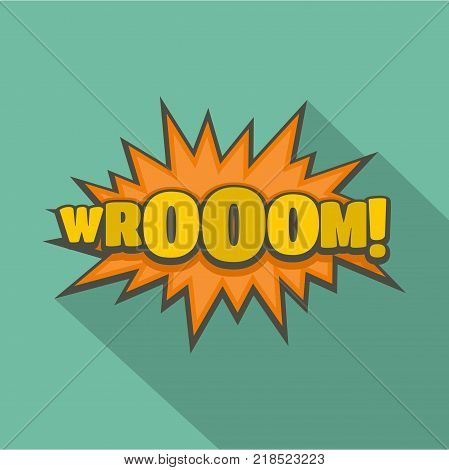 Comic boom sticker icon. Flat illustration of comic boom sticker vector icon for web