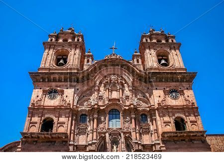 Towers of the Cathedral of Santo Domingo, Cusco, Peru, South America