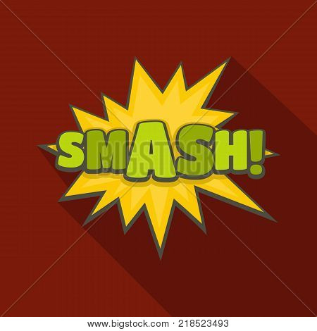 Comic boom smash icon. Flat illustration of comic boom smash vector icon for web
