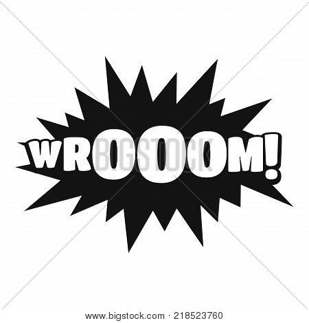 Comic boom sticker icon. Simple illustration of comic boom sticker vector icon for web