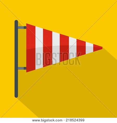 Meteorology windsock icon. Flat illustration of meteorology windsock vector icon for web