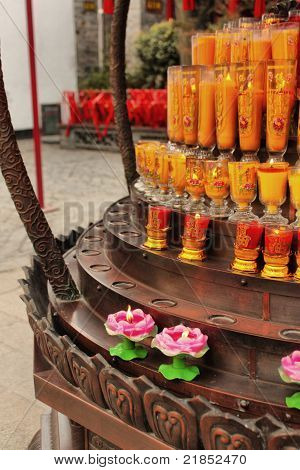 Chinese traditional Buddhism candles