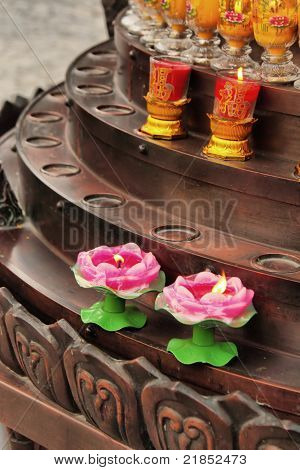Chinese traditional Buddhism candle