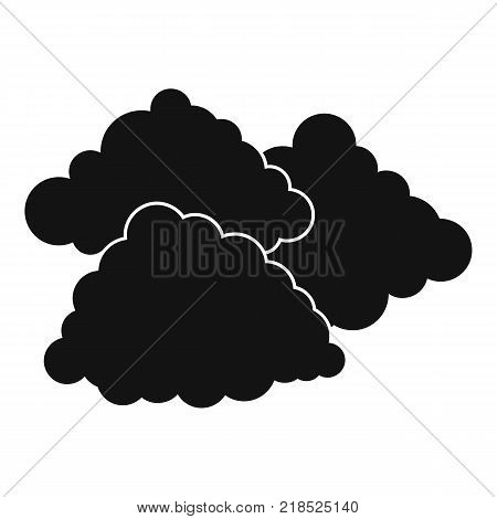 Dark cloudy icon. Simple illustration of dark cloudy vector icon for web