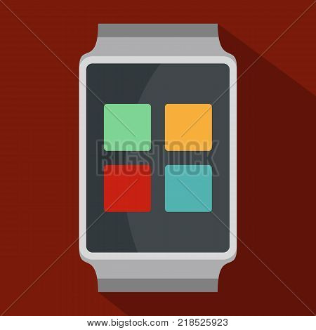 Smart watches icon. Flat illustration of smart watches vector icon for web