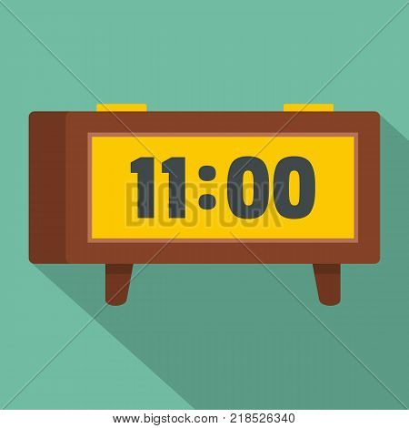 Alarm clock retro icon. Flat illustration of alarm clock retro vector icon for web