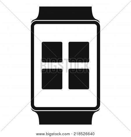 Smart watches icon. Simple illustration of smart watches vector icon for web