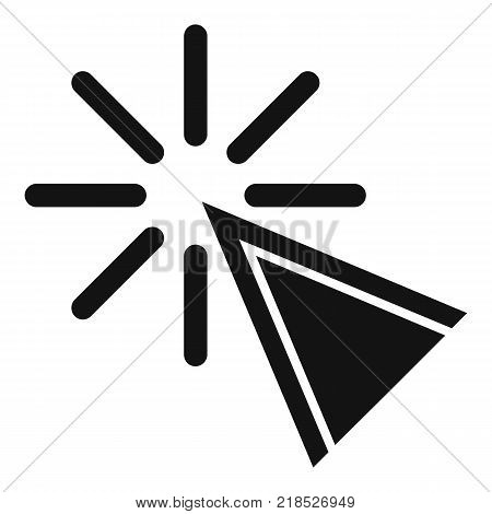Cursor click icon. Simple illustration of cursor click vector icon for web