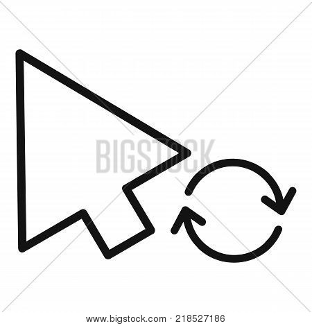 Arrow cursor loading icon. Simple illustration of arrow cursor loading vector icon for web