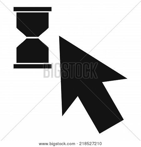 Cursor wait icon. Simple illustration of cursor wait vector icon for web