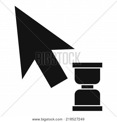 Cursor wait web icon. Simple illustration of cursor wait web vector icon for web