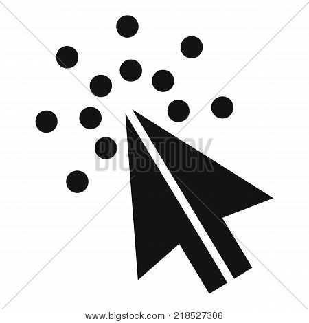 Cursor digital icon. Simple illustration of cursor digital vector icon for web