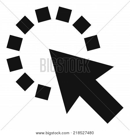 Cursor pixel icon. Simple illustration of cursor pixel vector icon for web