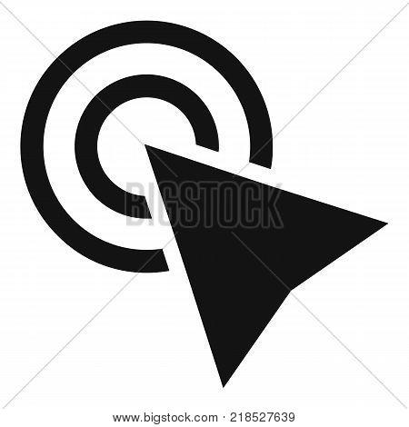 Cursor click element icon. Simple illustration of cursor click element vector icon for web