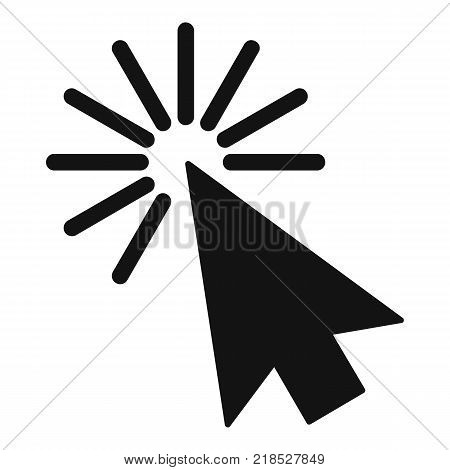 Cursor interface element icon. Simple illustration of cursor interface element vector icon for web