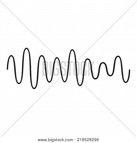 Equalizer wave sound icon. Simple illustration of equalizer wave sound vector icon for web