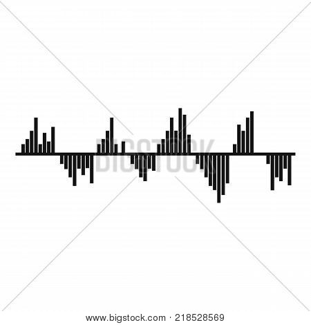Equalizer signal icon. Simple illustration of equalizer signal vector icon for web