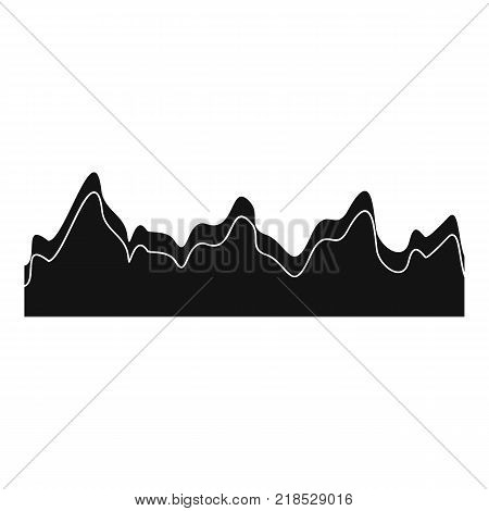 Equalizer song radio icon. Simple illustration of equalizer song radio vector icon for web