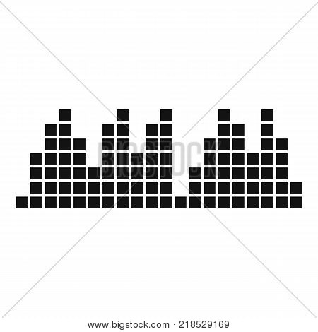 Equalizer playradio icon. Simple illustration of equalizer play radio vector icon for web