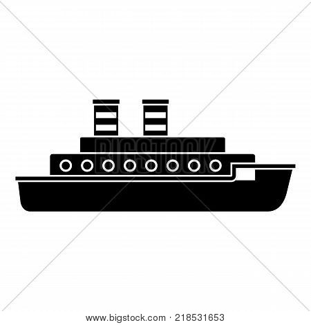 Steamship icon. Simple illustration of steamship vector icon for web