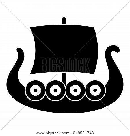 Ship viking icon. Simple illustration of ship viking vector icon for web