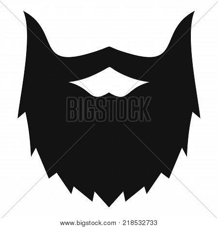 Villainous beard icon. Simple illustration of villainous beard vector icon for web