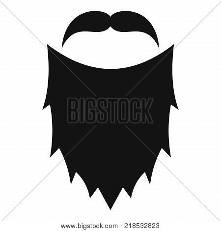 Mask beard icon. Simple illustration of mask beard vector icon for web