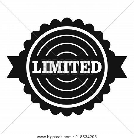 Limited logo. Simple illustration of limited vector logo for web
