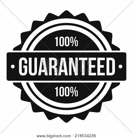 Guaranteed logo. Simple illustration of guaranteed vector logo for web
