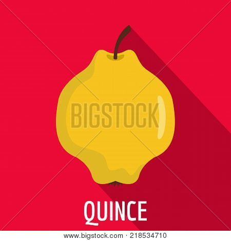 Quince icon. Flat illustration of quince vector icon for web