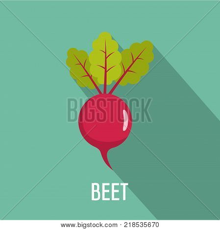 Beet icon. Flat illustration of beet vector icon for web