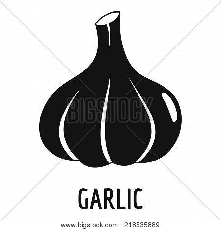 Garlic icon. Simple illustration of garlic vector icon for web