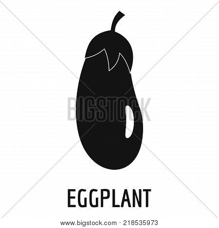Eggplant icon. Simple illustration of eggplant vector icon for web