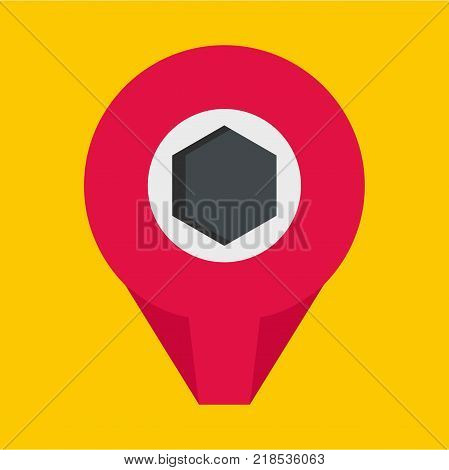 Mark pin icon. Flat illustration of mark pin vector icon for web