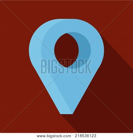 destination icon. Flat illustration of destination vector icon for web