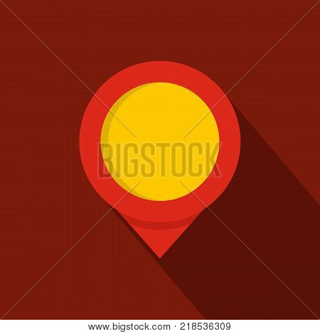Reminder pin icon. Flat illustration of reminder pin vector icon for web